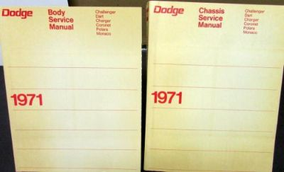 Purchase NOS 1971 Dodge Service Manual Hemi 440 6Pack Challenger Dart Charger Coronet R/T motorcycle in Holts Summit, Missouri, United States, for US $124.71