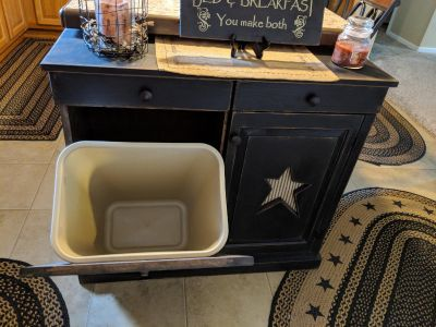 Garbage can stand new..