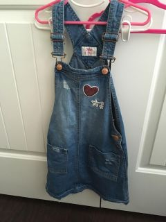 Justice dress overalls size 8