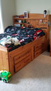 Double Bed with Drawers & Desk