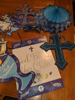 First Communion Party Decorations, Blue