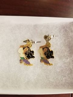 Vintage Disney Esmeralda earrings