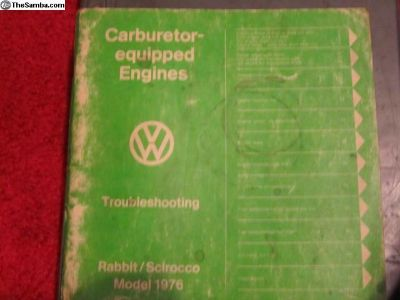 CarburetorTroubleshootingRabbit/Scirocco76: