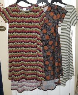 $60 Firm for lot of 3 New XSmall Lularoe Carly dresses