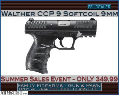 For Sale: Walther CCP 9 w/ Softcoil Gas System 9mm for ONLY 349.99