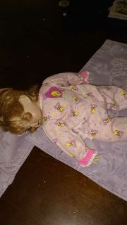 Sleeping porcelain baby doll