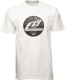 Purchase Fly Racing Casual Clique Men's White Graphic Short Sleeve Tee T-Shirt motorcycle in Golden, Colorado, United States, for US $22.46