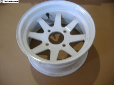 VW Bug off road 4 bolt 14 x 7 white wheel