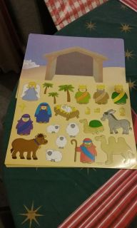 Lot of 10, New, Nativity Stickers & Stable Sets from Oriental Trading Company