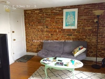 1 bed, 1 bath I $995 | 201 E. 33rd St., Baltimore MD 21218 Apt. 3
