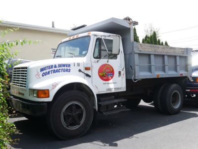 1990 International 460 Dump Truck (White)