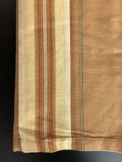 "Pottery Barn Harrison Stripe Curtains Drapes two sets, four panels total - Tan 25"" wide x 84"" lo..."