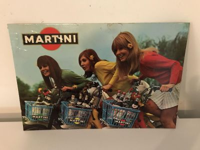 Martini Advertising Poster: Belgian Liquor Advertising with Tax Stamp ~ ORIGINAL Poster (NOT Reproduction)