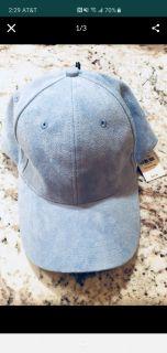 Blue suede hat