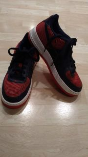 Nike Air Force 1 Sneaker Red & Blue Size 6.5 In Excellant Pre Owned Cond. Smoke Free