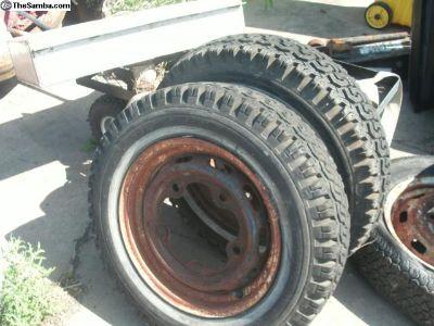 1 pair 5 lug stock Wheels