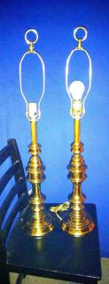 Pair of vintage stiffell brass and table lamps