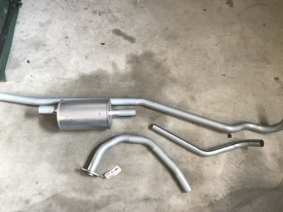 46-71 CJ-2A, 3A, 3B, 5 jeep COMPLETE EXHAUST SYSTEM KIT
