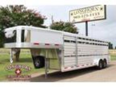 2020 Exiss 24ft Stock Trailer with Side Ramp Stock