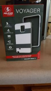 PELICAN SAMSUNG NOTE 4 CELL PHONE CASE WHITE/GRAY