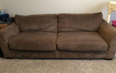 Plush brown couch