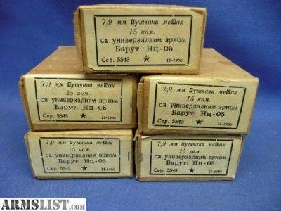 For Sale: Yugo 8mm Mauser ammo