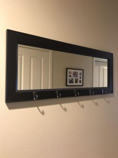 Mirror with hooks. PPU