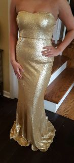 Gold Sequence Long Dress