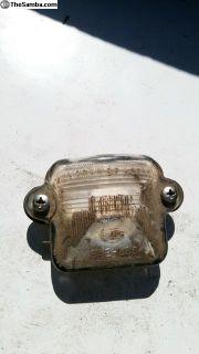 License Plate Light Bulb Holder and Lens 1964-69
