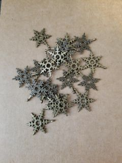 20 snowflake charms, new charms for jewelry making and crafts, cross posted