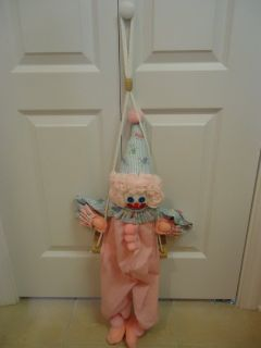 Handmade Hanging Clown on Swing 2