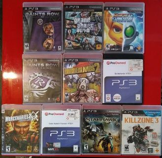 PlayStation 3 Ps3 games all 10 for 15.00