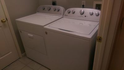 washer and dryer set, only one year old