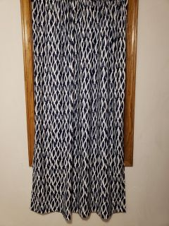 2 curtains with spring rods