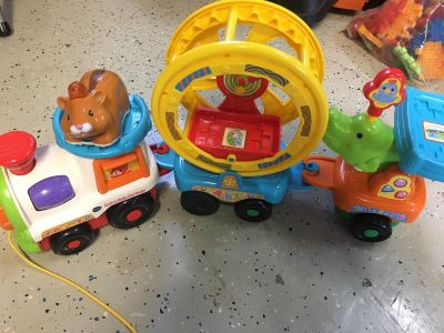Fisher Price Roll & Spin Pull Train with Hamster