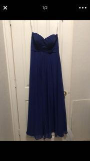 Navy blue and royal blue dresses