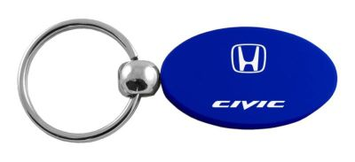 Purchase Honda Civic Blue Oval Keychain / Key fob Engraved in USA Genuine motorcycle in San Tan Valley, Arizona, US, for US $14.61