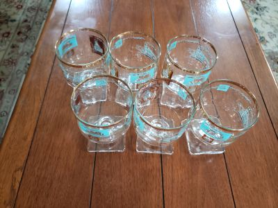 Vintage Libbey Southern Comfort Pedestal Glasses