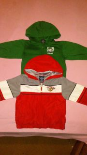 (2) size 18 months light weight sweaters football theme BUNDLE DISCOUNT IF PURCHASE $25-$4 serious buyers only
