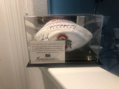 2015-16 OSU Urban Meyer Signed Football