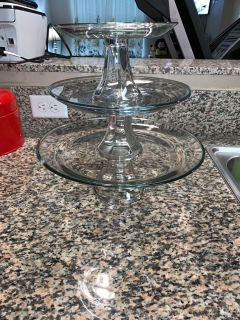Anchor Hocking 3 tiered serving plate