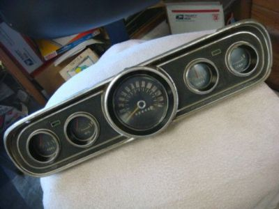 Find ORIGINAL 65 - 66 MUSTANG INSTRUMENT GAUGE CLUSTER ASSEMBLY C6ZF-10843 motorcycle in Fresno, California, United States, for US $150.00