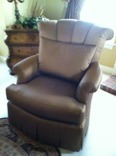 Marge Carson chair and ottoman