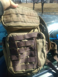 Tactical backpack.