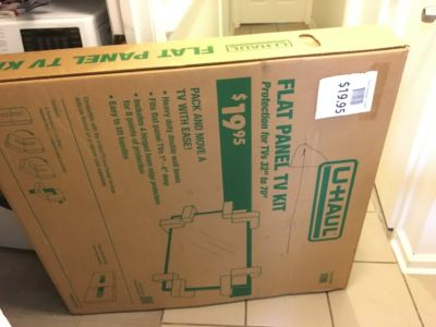 Moving box for TV