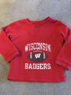 24 months (says 2T but fits like 24mo IMO) Badger Shirt