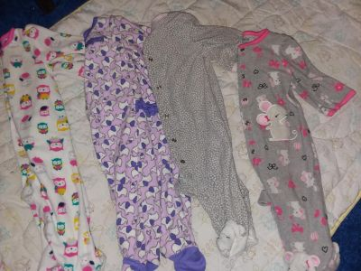 Size 3-6/6 Month Button Up Sleepers