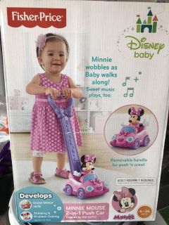 Minnie Mouse 2 in 1 Push Car