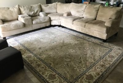 sectional sofa and area rug