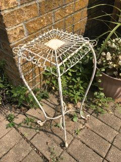 Vintage Decorative Wrought Iron Plant Stand